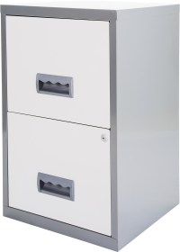 NEW Pierre Henry 2 Drawer A4 Maxi Filing Cabinet - Silver ...