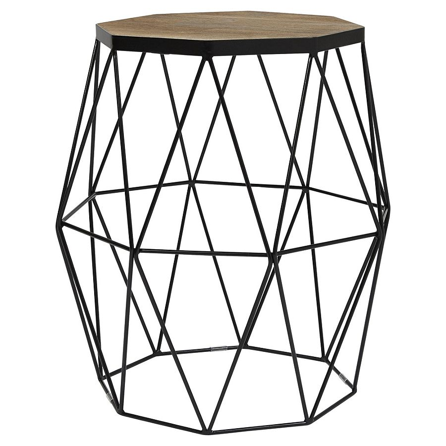 NEW Tesco Hexagonal Top Wire Frame Side Table