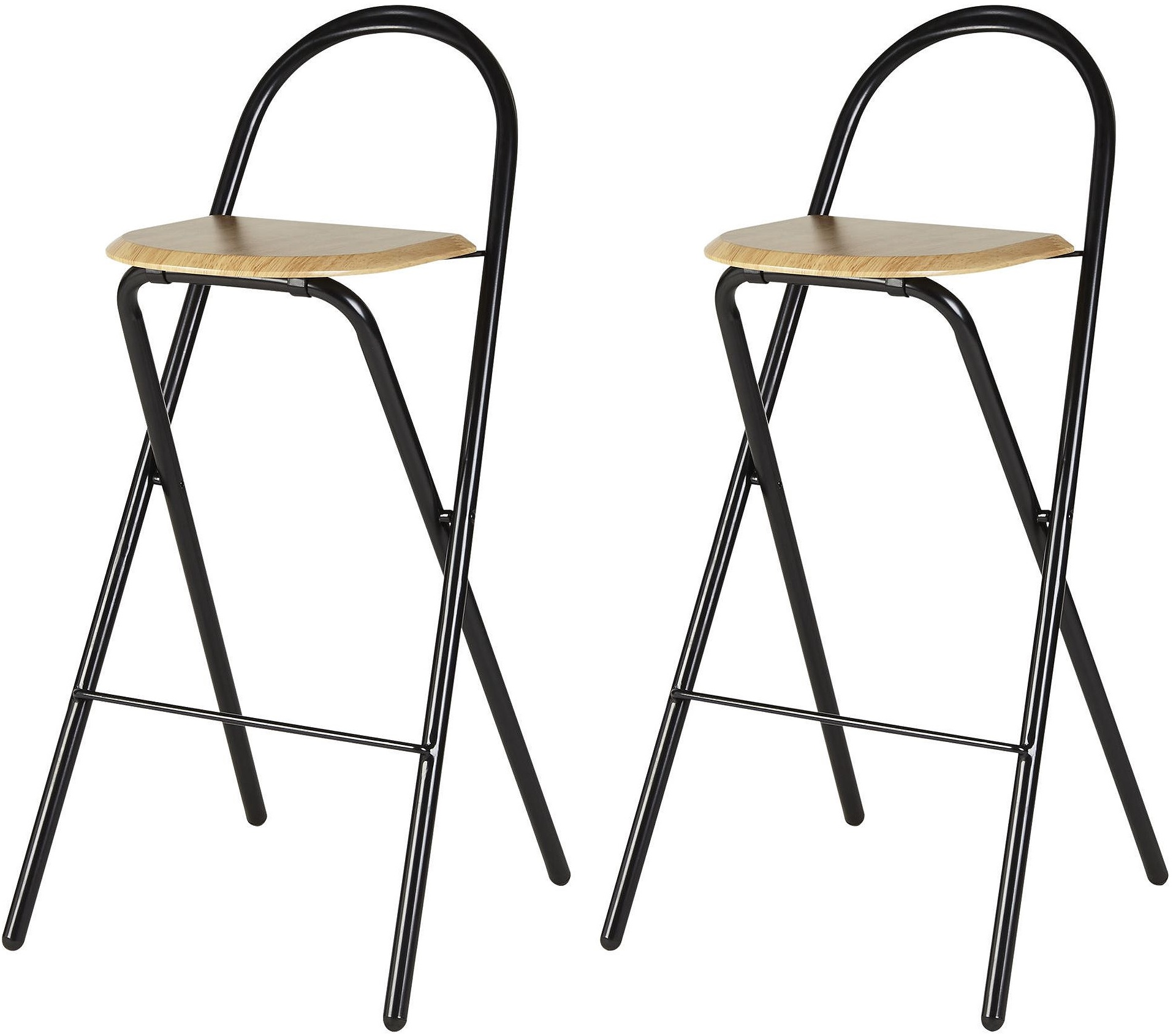 fold up chairs tesco folding chair hire new pair of 2 bar stool black and oak