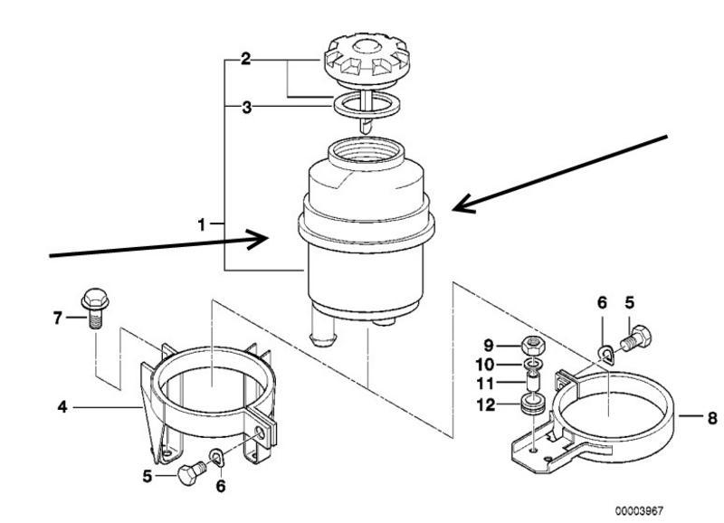 POWER STEERING FLUID RESERVOIR TANK BMW E81 E82 E87 E88 1