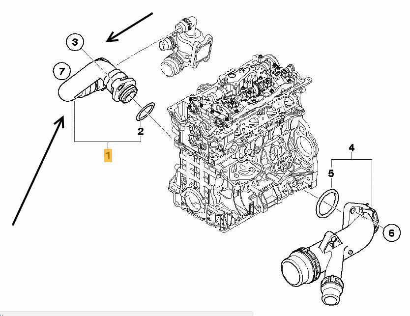 Thermostat to Engine Hose BMW E81 E87 116i, 118i N45N,N46N