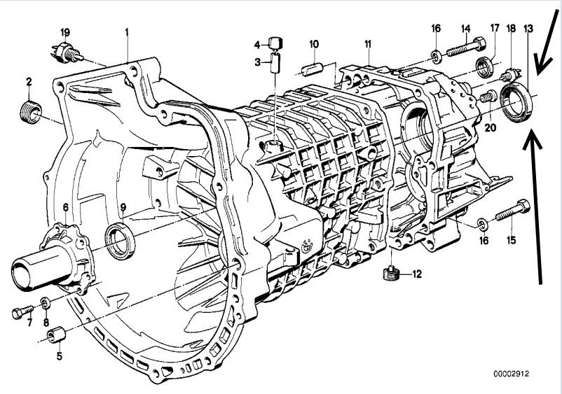 BMW E21, E30, E28 E34 Gearbox Shaft Oil Seal FEBI