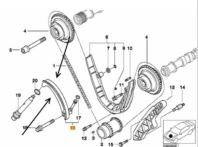 BMW E53 X5 4.4i M62 eng, 4.6iS Lower Timing Chain