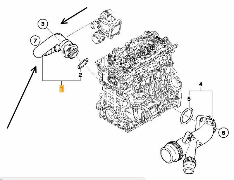 Thermostat to Engine Hose BMW E81 E87 116i, 118i N45N,N46N