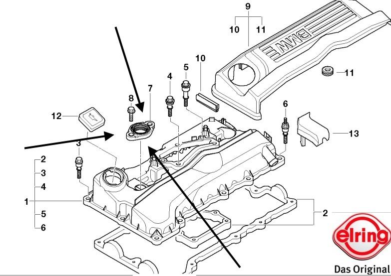 Sealing Flange/Profile Gasket BMW E46 316i, 320i N42 & N46