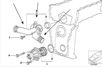 BMW THERMOSTAT E36 318i 318Ti, Z3 1.9 M44 engines BEHR