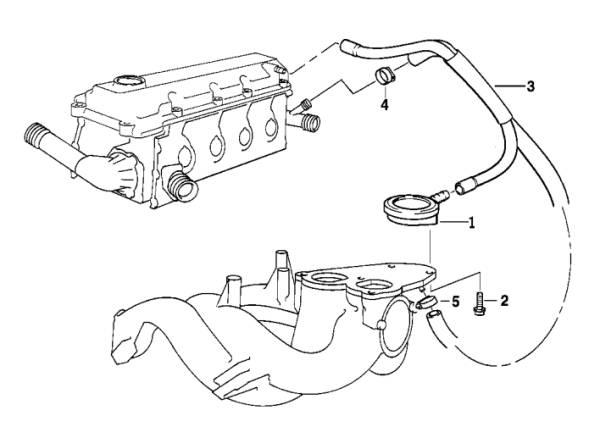 BMW Breather Hose E36 E46 316i 318i M43 engines made in