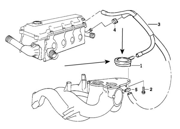 BMW Crankcase Breather Valve E36,E46 M43eng German