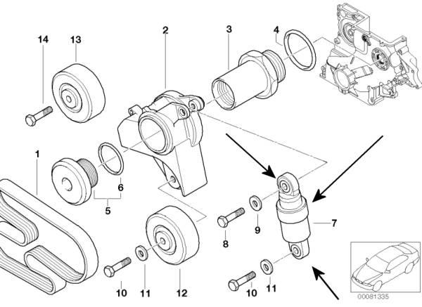 BMW Hydraulic Belt Tensioner E46 320d M47 engines German