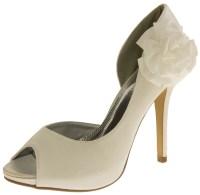 Ladies Satin Wedding Pumps Formal Shoes Womens Bridal ...