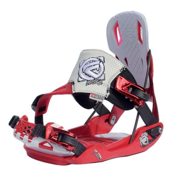 Flow Five SE Snowboard bindings 2013 in Red