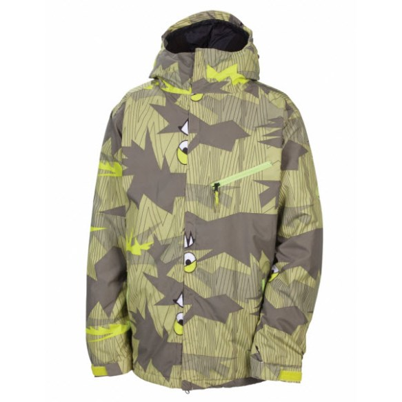 686 Camotooth Mens Insulated Snowboard Jacket Army 2013
