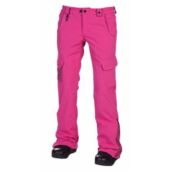 686 Reserved Crown Softshell Womens Snowboard Pants Magenta Sample Medium 2013