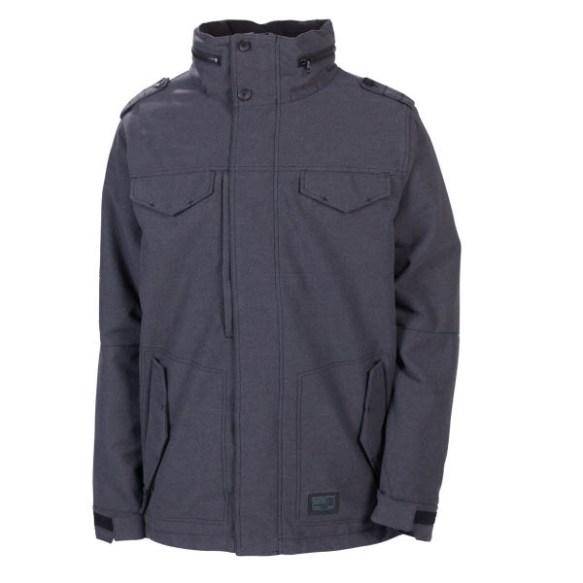 686 Reserved M-65 Wool Mens Snowboard Jacket Black Heather 2013