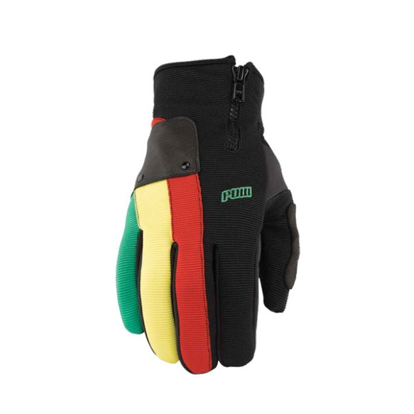 Pow Gloves Barker Snowboard Ski Gloves 2013 in Rasta