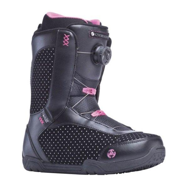 K2 Sendit BOA 2014 Sample Womens Snowboard Boots New Black Pink 2014 UK 5.5
