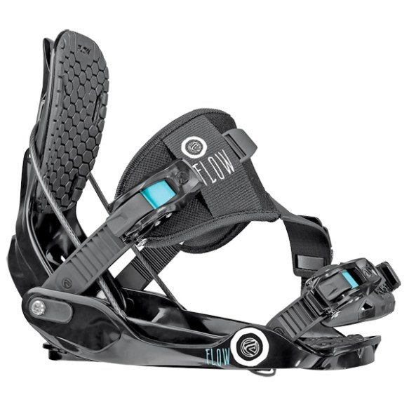 Flow Womens Gem-SE Snowboard Bindings Black 2014 Medium