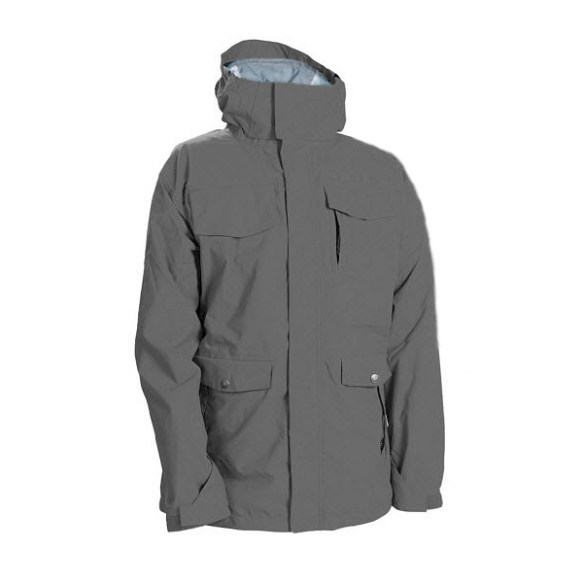 686 Smarty Command Insulated Snowboard Jacket Gunmetal 2012