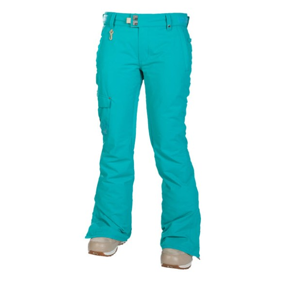 686 Womens Mannual Prism Insulated Snowboard Pants Turquoise 2014