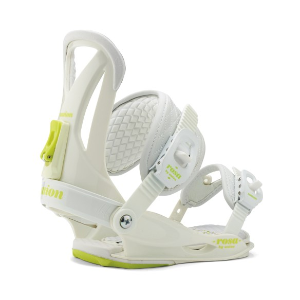 Union Rosa SAMPLE Womens Snowboard Bindings 2015 White Medium