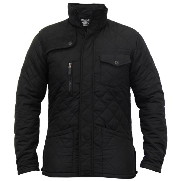 Mens Jacket Soul Star Coat Padded Quilted Corduroy Brave Lined Winter