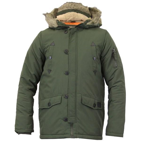 Boys Jacket Parka Coat Brave Soul Kids Padded Sherpa Hooded Fur Lined Winter