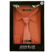 Mens Shirt Tie Set Formal Italian Style Box Office Long