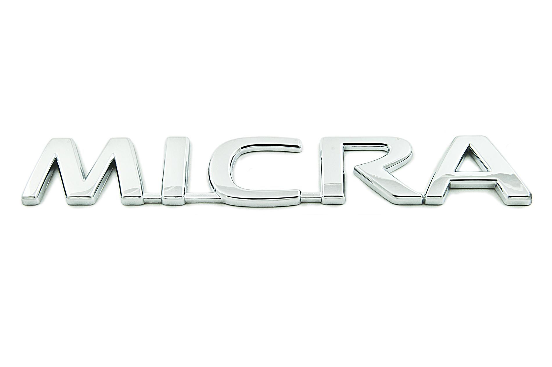 Nissan Genuine Micra Chrome Badge Emblem Rear For Boot