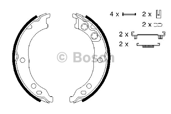 Fiat Ducato 2.8 JTD 02-06 New Bosch Parking Brake Set