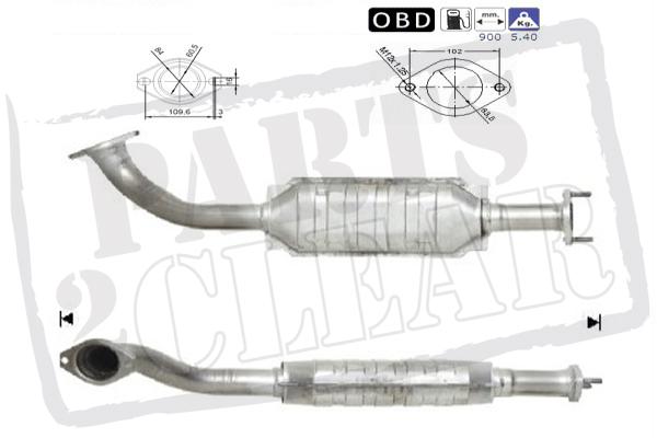 Catalytic Converter Exhaust For Mitsubishi Shogun 3.2 D-Id