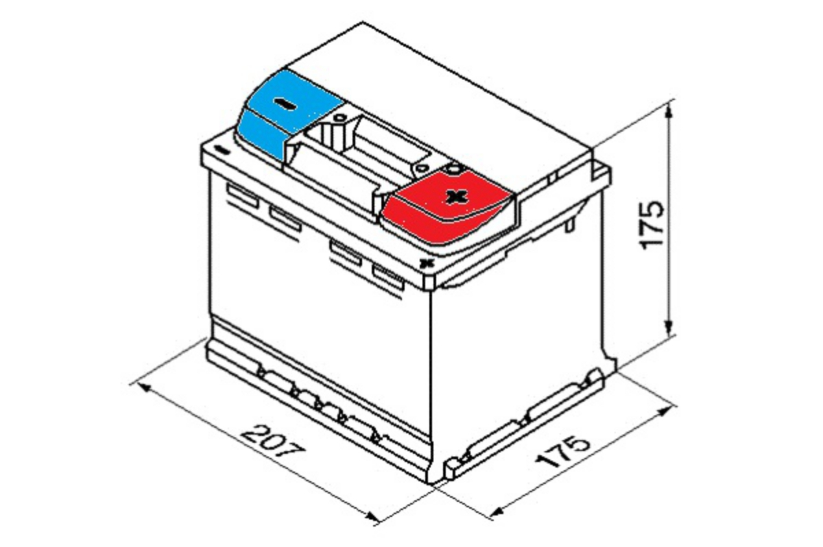 Yuasa Car Battery Calcium 12v 45ah 425cca T1 For Ford