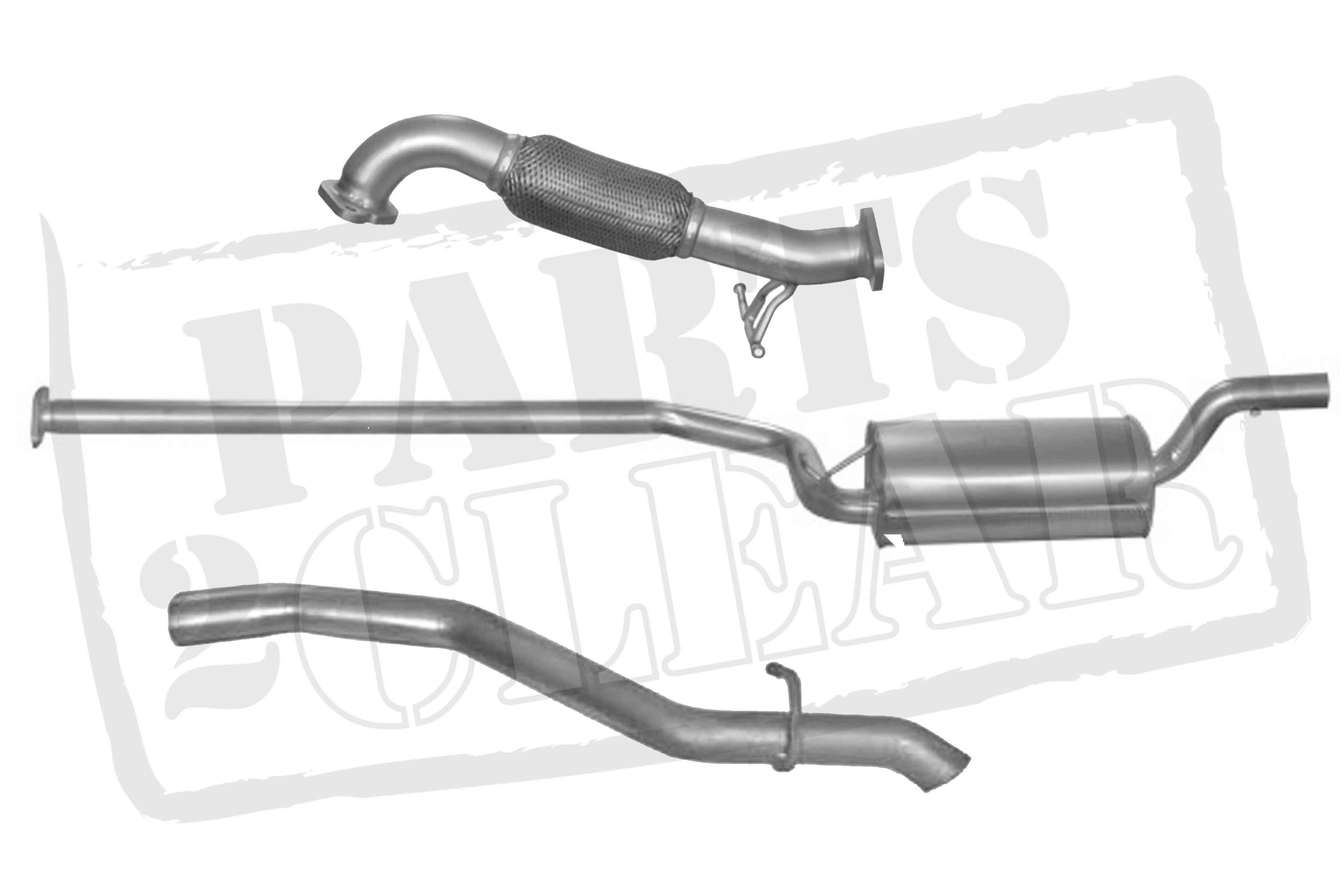 Volvo C30 1 6 D Front Centre Rear Exhaust System Flexi