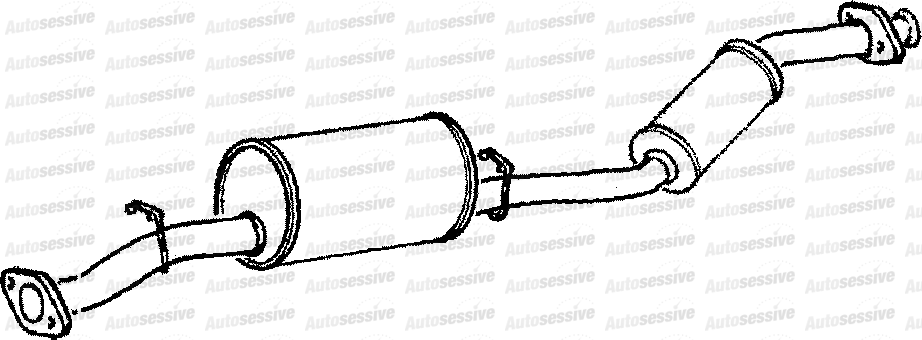 Land Rover Defender 90 2 5TDI 200 90 93 Exhaust Silencer