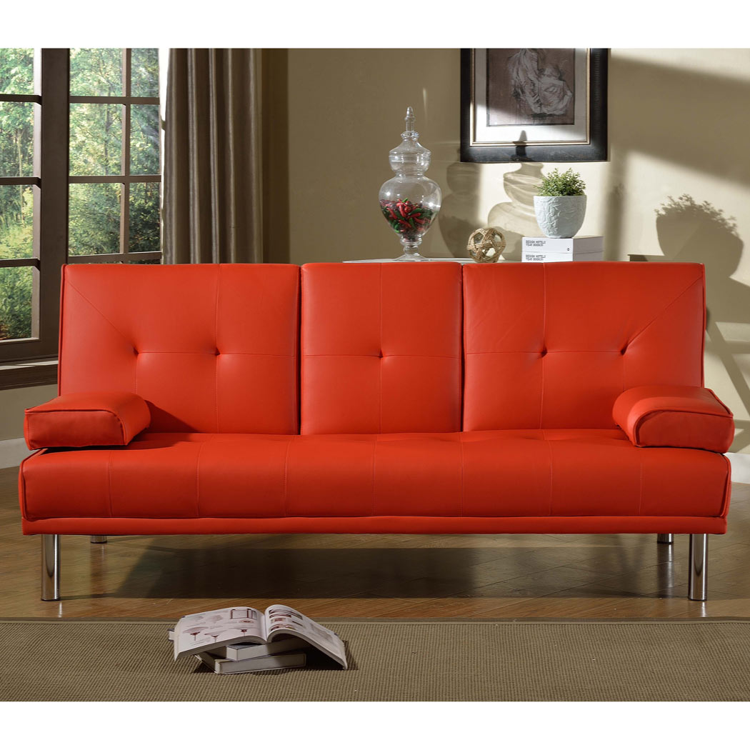 fold down sofa beds uk large corduroy sofas rome 3 seater red bed faux leather w table
