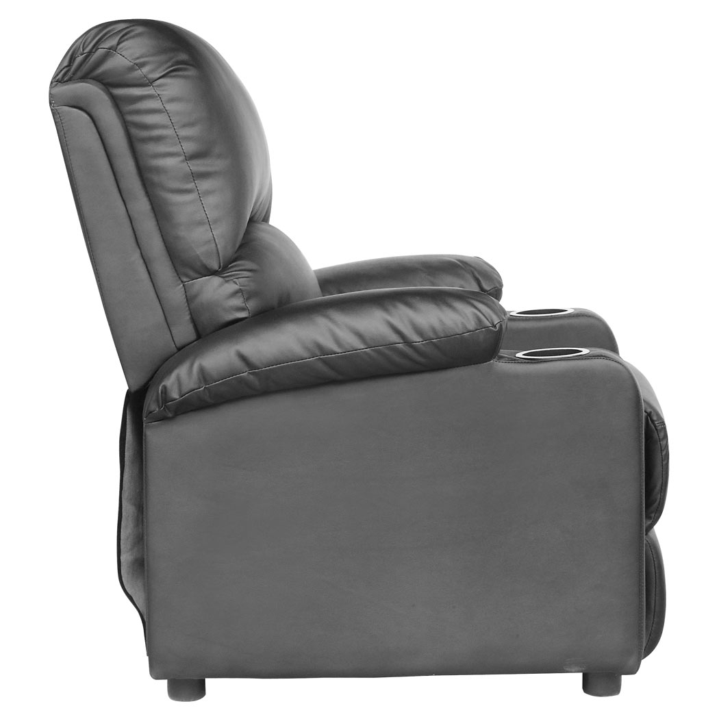 sofa armchair drink holder caddy bed informa kino real leather recliner w holders