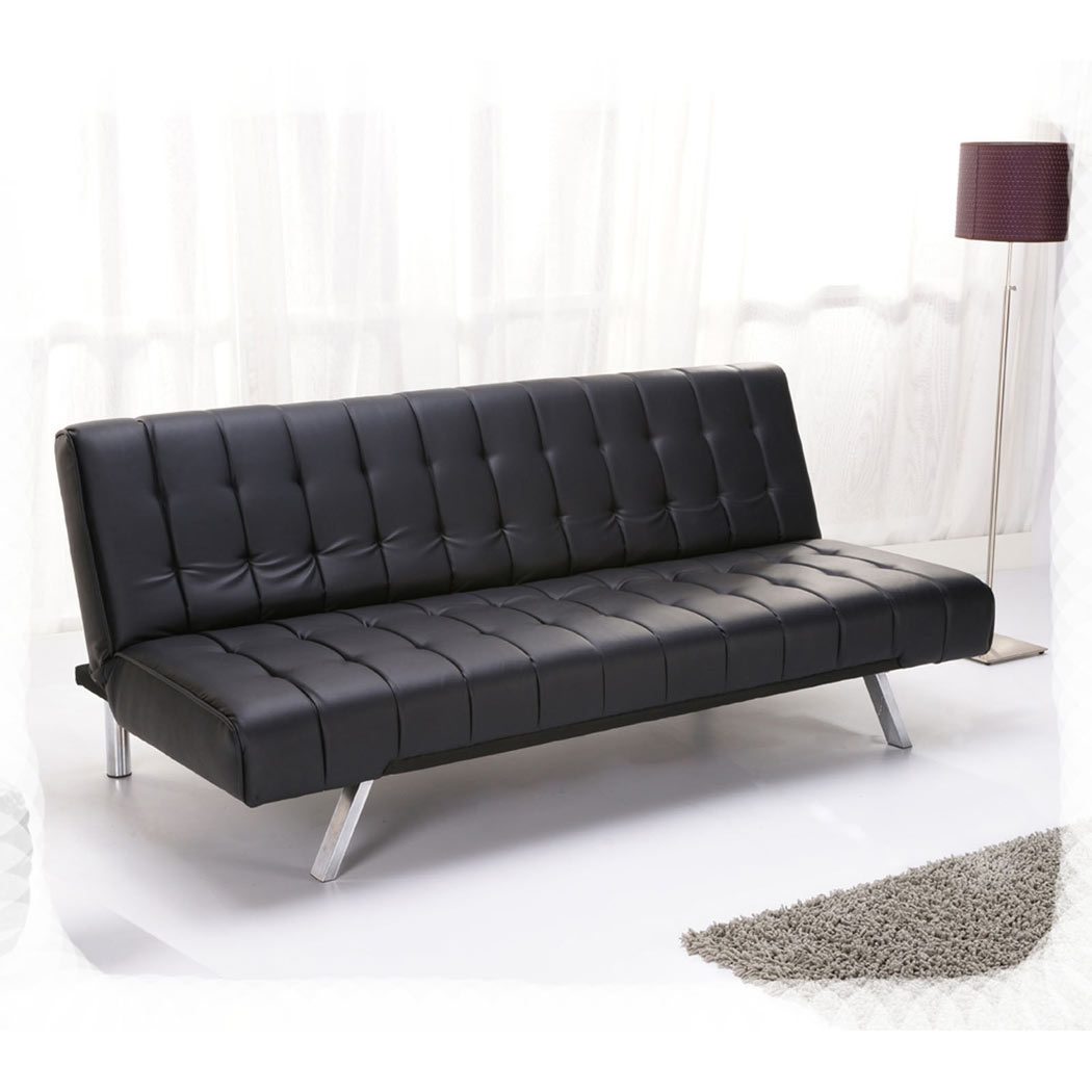aqua sofa dry clean covers at home 3 seater bed faux leather w metal legs modern