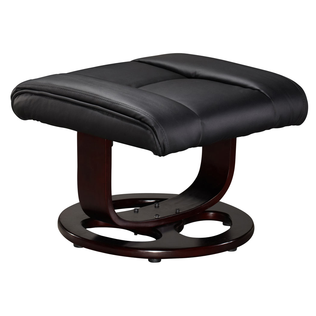 swivel chair for home office big w deck covers vienna real leather recliner foot stool