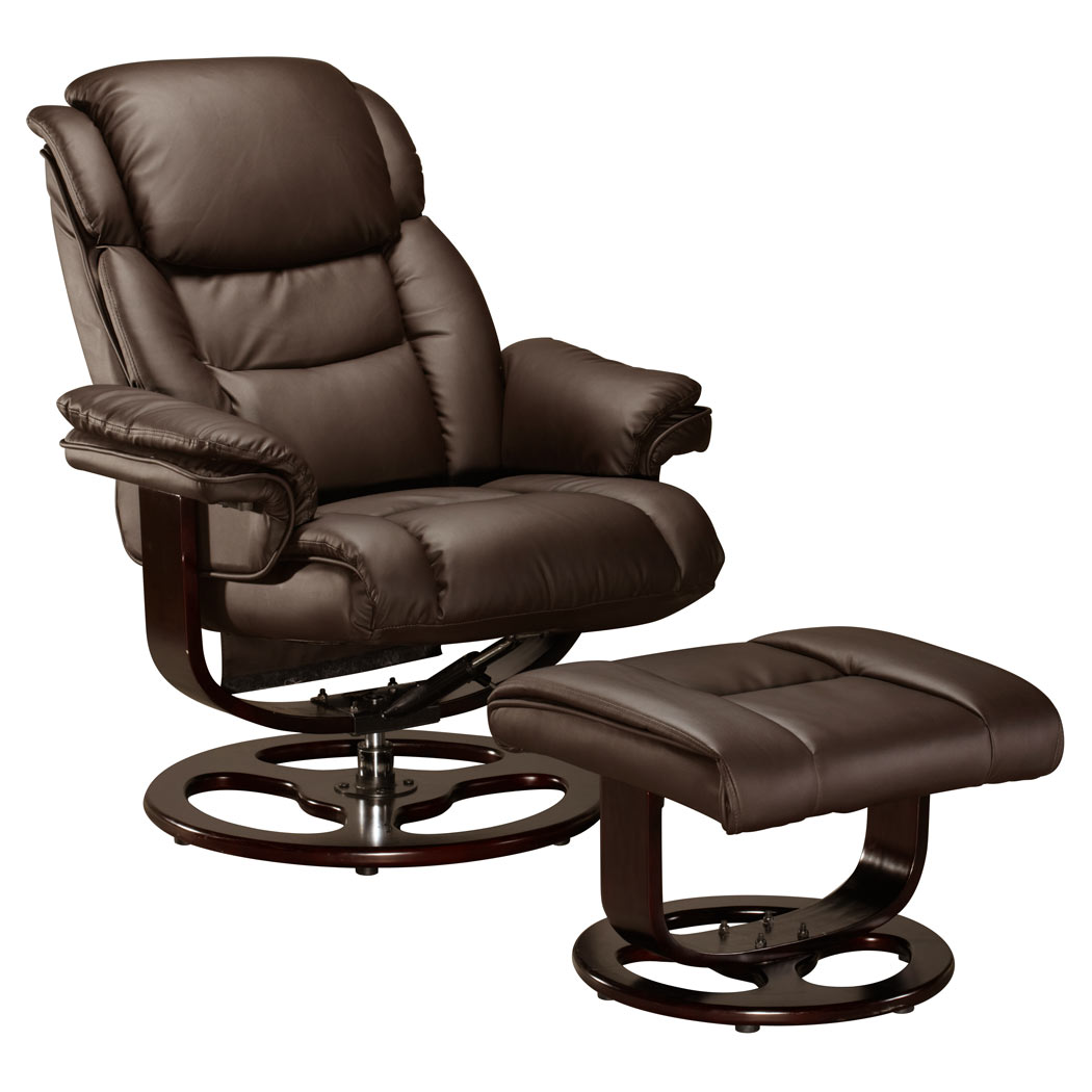swivel chair feet hanging egypt vienna real leather recliner w foot stool