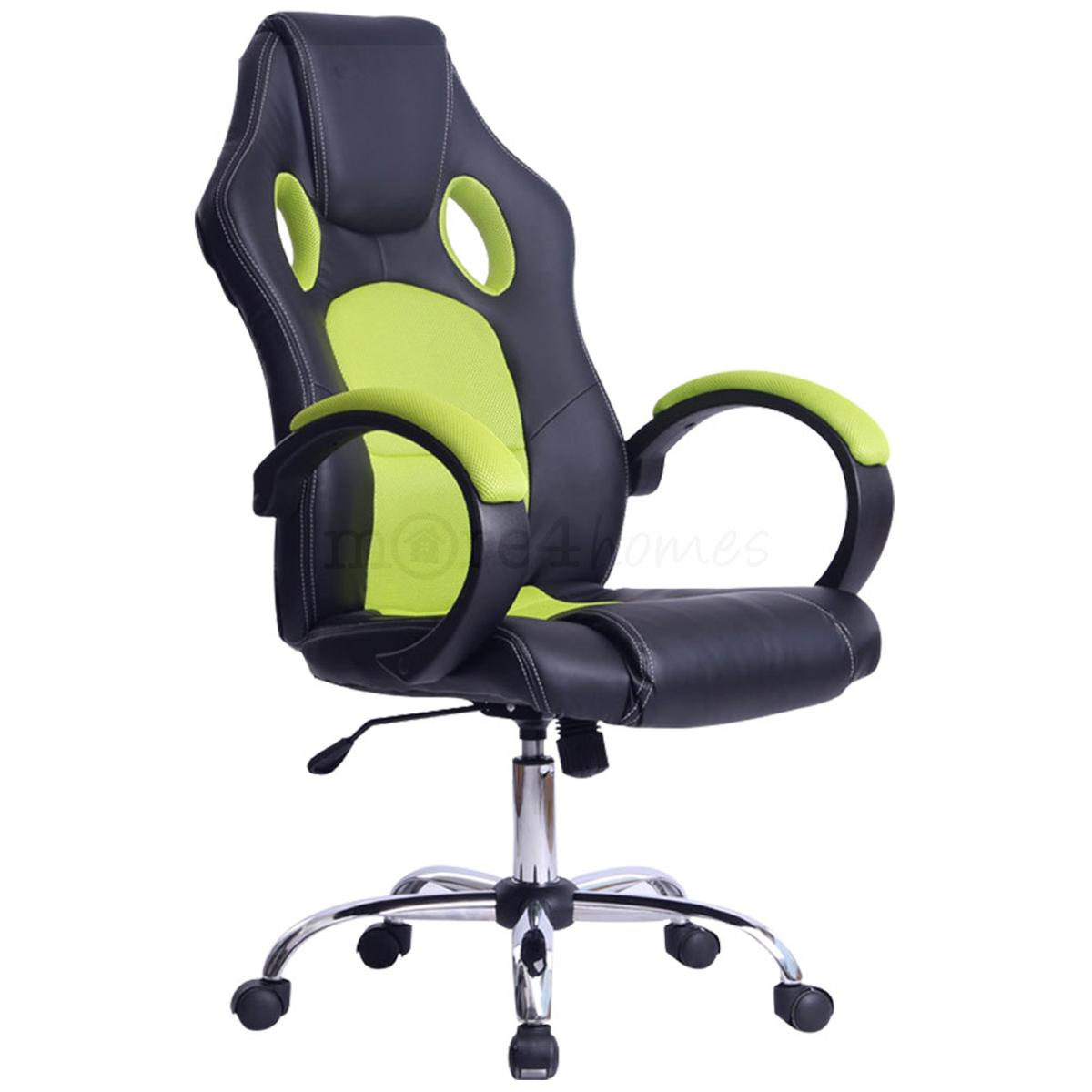 Racing Desk Chair Prix Sport Racing Car Office Chair Faux Leather Mesh