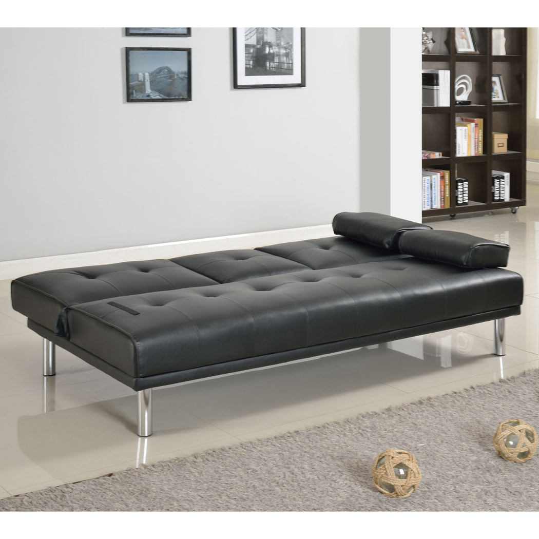 fold down sofa beds uk high quality bed rome 3 seater faux leather w table