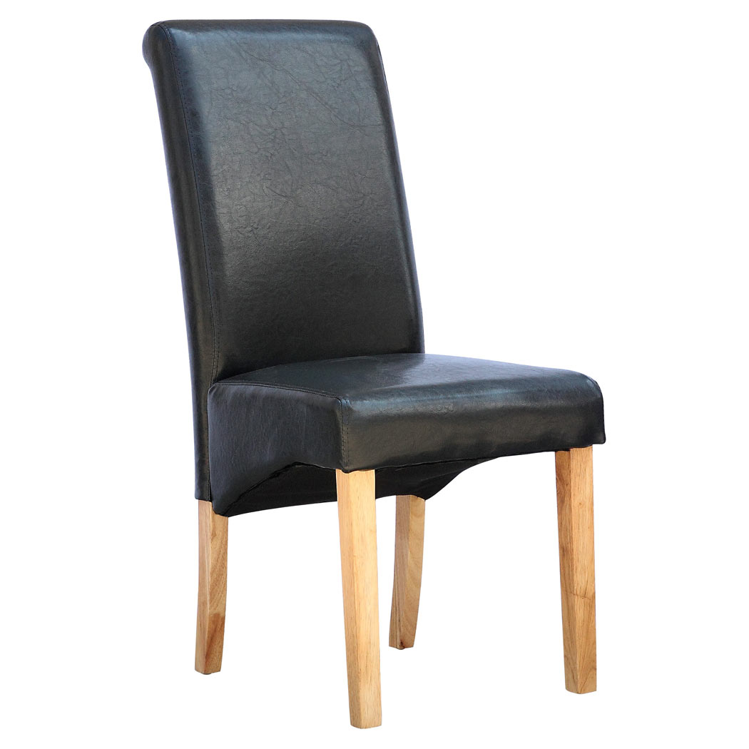 high back oak dining chairs unusual ireland cambridge faux leather chair w roll top