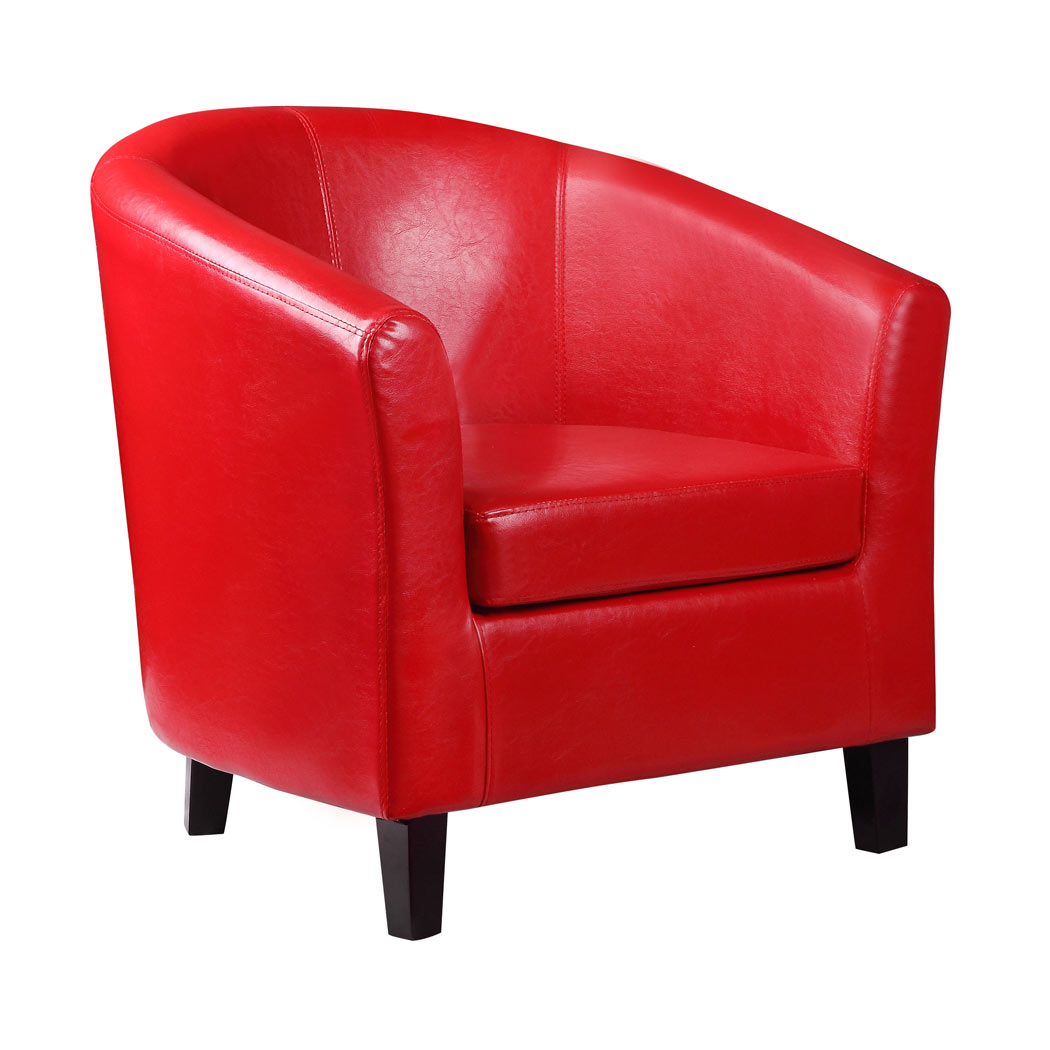 leather tub chair what is a rocking 2 x kent red faux armchair ideal for