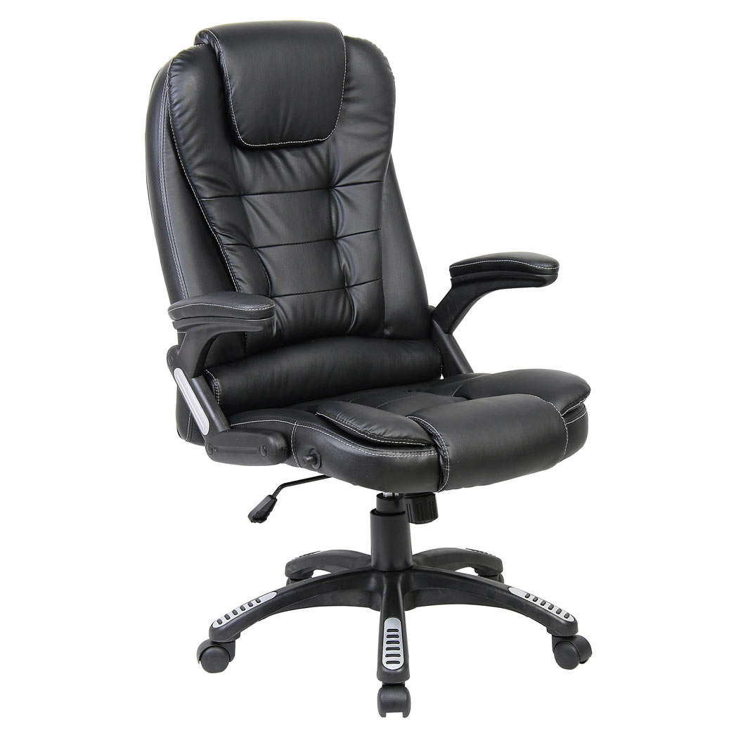 recliner office chair nz chairs with cup holders rio black luxury reclining executive desk