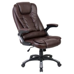 Harith High Back Leather Executive Chair Exercises For Seniors Brown Office