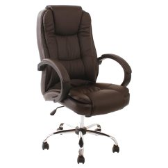 Desk Chairs Outdoor Director Chair Replacement Canvas Santana Brown High Back Executive Office Leather