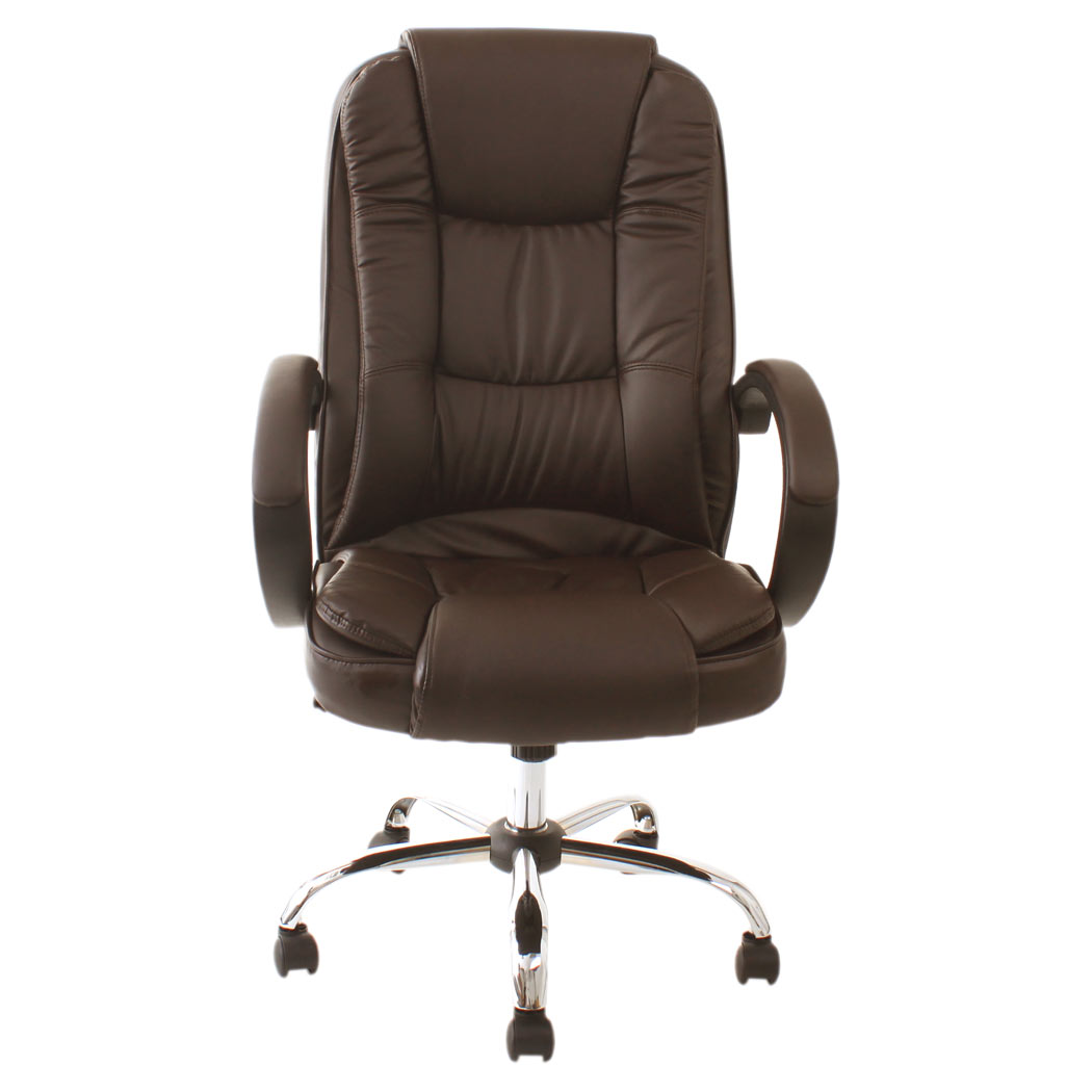 Brown Computer Chair Santana Brown High Back Executive Office Chair Leather