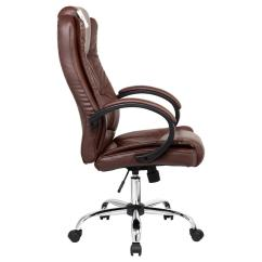 Brown Leather Computer Chair Emperor Santana High Back Executive Office