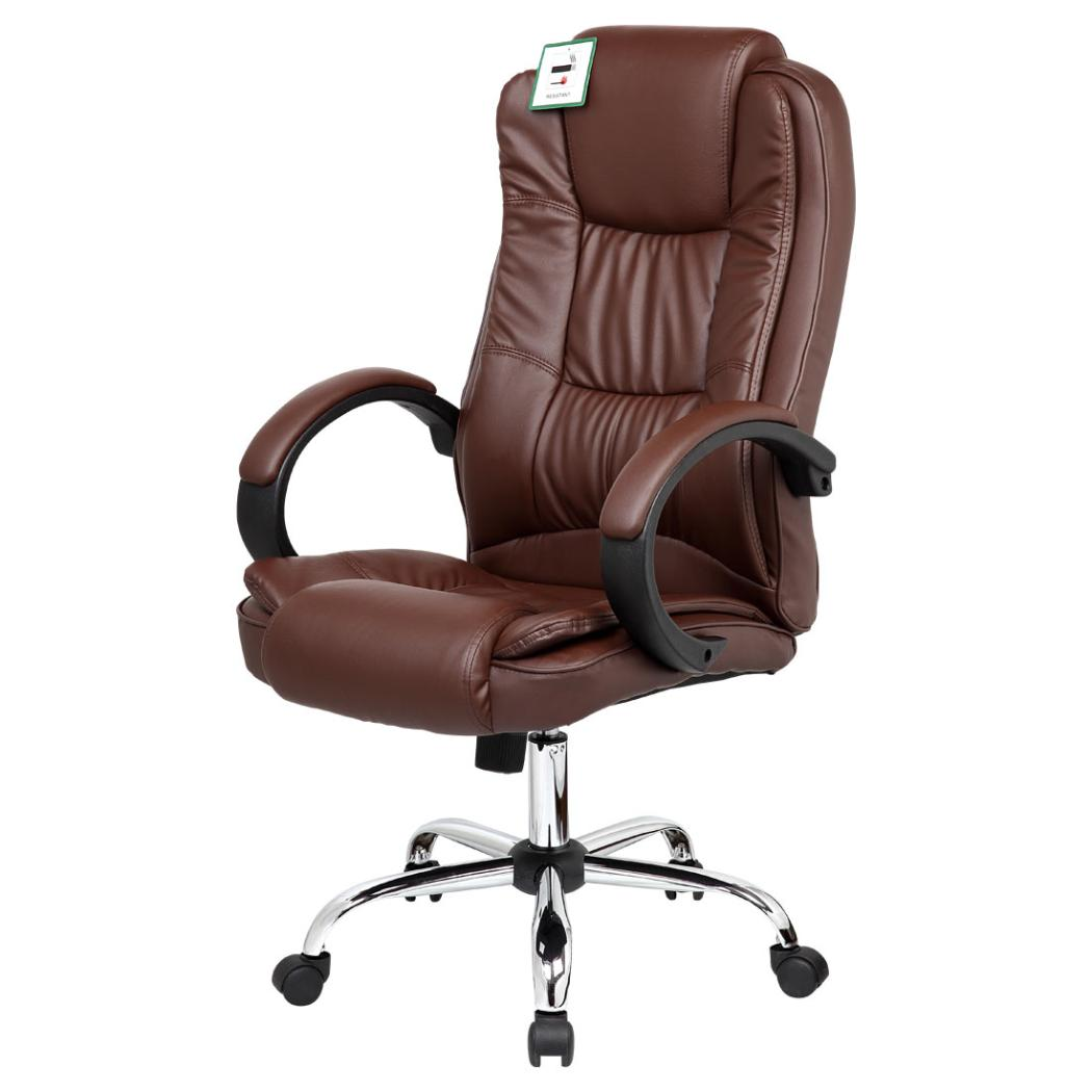 high back chairs uk only staples canada ergonomic santana brown executive office chair leather