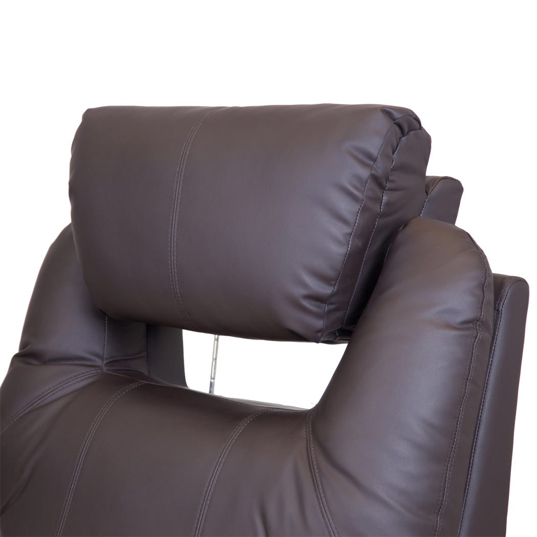 Real Leather Recliner Chairs Cinemo Real Leather Recliner Chair Rocking Massage Swivel