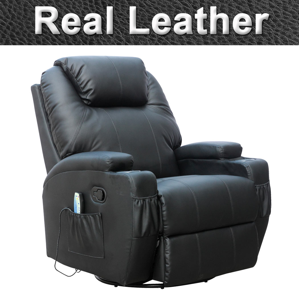 massage gaming chair gym qvc cinemo real leather recliner rocking swivel